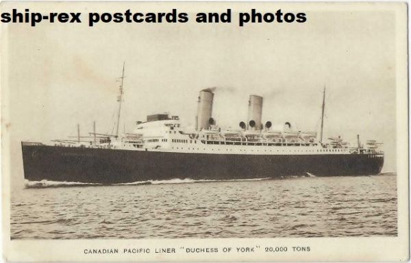 DUCHESS OF YORK (1929, Canadian Pacific) postcard (a1)